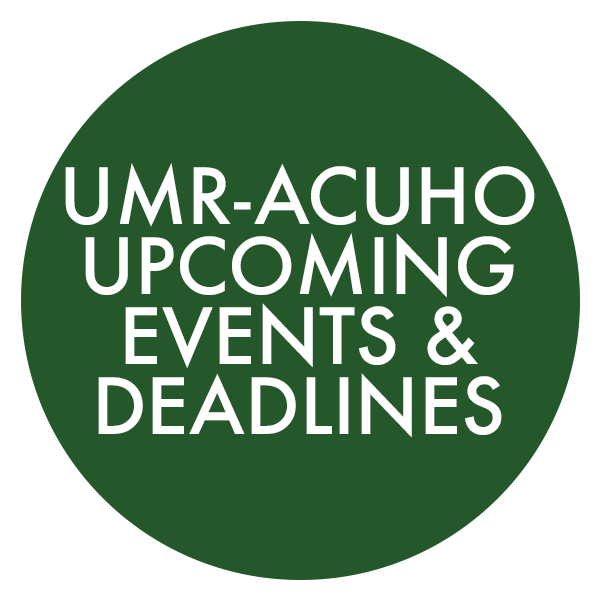 UMR-ACUHO Upcoming Events & Deadlines